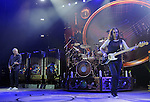 From left: Alex Lifeson, Neil Peart and Geddy Lee of Rush performs at the Cynthia Woods Mitchell Pavilion in The Woodlands Saturday Sept. 25, 2010. (Dave Rossman/For the Chronicle)
