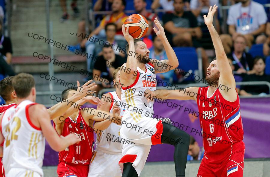 Nikita Kurbanov Milan Macvan European basketball championship, Evropsko prvenstvo u kosraci Eurobasket Rusija - Srbija, Russia - Serbia 02.9.2017. Istanbul, Turska, 2. Septembar 2017. (credit image & photo: Pedja Milosavljevic / STARSPORT)