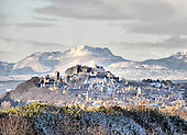 Scotland snow fall - reminiscent of a Bavarian schloss, Stirling Castle looks out over the snow capped mountains of the Trossachs and Southern Highlands - picture by Donald MacLeod 28.11.10 - mobile 07702 319 738 - clanmacleod@btinternet.com - www.donald-macleod.com