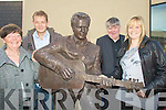 FAMILY: Members of the Ross family Tralee who were at the veiling of the statue of the late Christy Hennessy on Saturday in the Square. l-r: Breda, Mark, Melissa and Jimmy Ross...