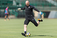 Tampa, FL - Monday July 10, 2017: The USMNT train at USF prior to their 2017 Gold Cup game.