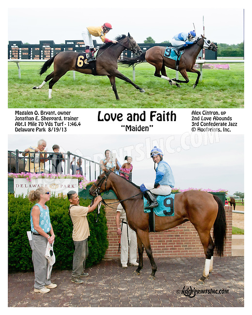 Love and Faith winning at Delaware Park on 8/19/13