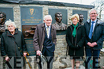 Unveiling of Wall of Remembrance for the The Ballykissane Tragedy Good Friday 1916 in Killorglin on Friday. Pictured l-r  Noreen Twomey, Donal Healy, Kathleen Keating and Sean Keating