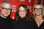 Neil Pepe, Talia Balsam and Mary McCann attends the 'Hangmen' Opening Night After Party at the The Gallery at the Dream Downtown on February 5, 2018 in New York City.