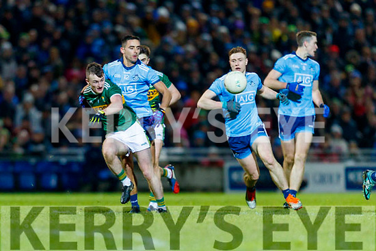 Tom O'Sullivan Kerry in action against John Small Dublin during the Allianz Football League Division 1 Round 3 match between Kerry and Dublin at Austin Stack Park in Tralee, Kerry on Saturday night.