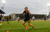 20180410 - FERRARA , ITALY : Belgian Janice Cayman pictured during warming up ahead of the female soccer game between Italy and the Belgian Red Flames , the fifth game in the qualificaton for the World Championship qualification round in group 6 for France 2019, Tuesday 10 th April 2018 at Stadio Paolo Mazza / Stadio Comunale in Ferrara , Italy . PHOTO SPORTPIX.BE | DAVID CATRY