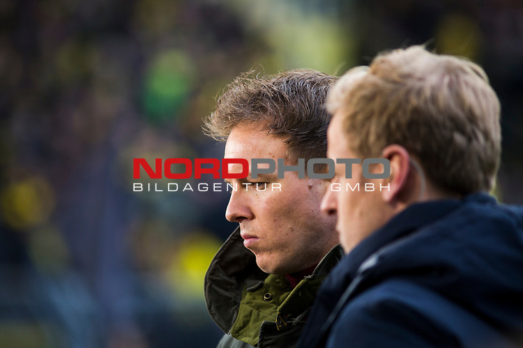 09.02.2019, Signal Iduna Park, Dortmund, GER, 1.FBL, Borussia Dortmund vs TSG 1899 Hoffenheim, DFL REGULATIONS PROHIBIT ANY USE OF PHOTOGRAPHS AS IMAGE SEQUENCES AND/OR QUASI-VIDEO<br /> <br /> im Bild | picture shows:<br /> Julian Nagelsmann (Trainer Hoffenheim) im Interview vor dem Spiel, <br /> <br /> Foto © nordphoto / Rauch