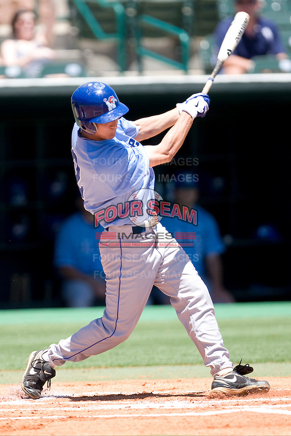 Memphis Tigers second baseman Chad Zurcher #2 swings against the Rice Owls in NCAA Conference USA baseball on May 14, 2011 at Reckling Park in Houston, Texas. (Photo by Andrew Woolley / Four Seam Images)