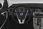 Car pictures of steering wheel view of a 2017 Volvo V60 T5-Cross-Country 5 Door Wagon Steering Wheel