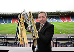 Jim McInally with the Scottish League Challenge Cup