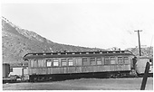 Bridges &amp; Building Car #0252 with kitchen &amp; diner car and tourist Pullman.  Side view<br /> D&amp;RGW  Durango, CO  Taken by Maxwell, John W. - 3/19/1950
