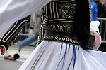 Greek Parade in New York City. Detail of a man's costume in the Greek Parade in New York City.