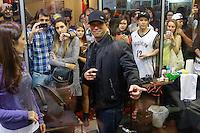 SAO PAULO, SP, 19.07.2014 - TATTOO WEEK 2014 - Ami James tatuador Israelita conhecido por participar de reality show de televisao durante a convençao de Tatuagem Tattoo Week 2014 no Pavilhao amarelo do expo center norte,  região norte da cidade de São Paulo. (Foto: Andre Hanni /Brazil Photo Press).