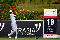 Dylan Frittelli (RSA) during the third round of the Afrasia Bank Mauritius Open played at Heritage Golf Club, Domaine Bel Ombre, Mauritius. 02/12/2017.<br /> Picture: Golffile | Phil Inglis<br /> <br /> <br /> All photo usage must carry mandatory copyright credit (&copy; Golffile | Phil Inglis)