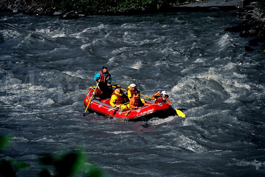 White Water Rafting at Bridal Falls Keystone Canyon, Alaska