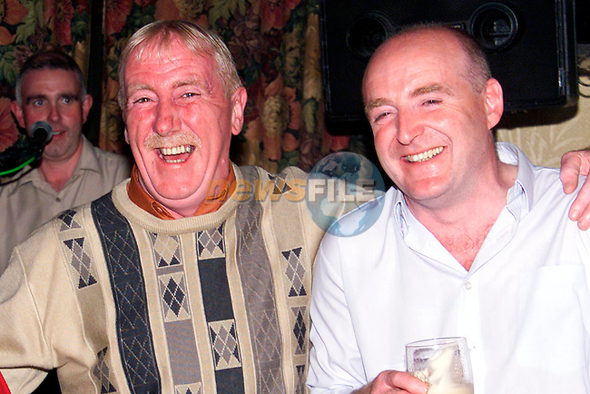 Michael Moore and Gerry Warren enjoying a night out in the Slane House..Picture: Paul Mohan/Newsfile