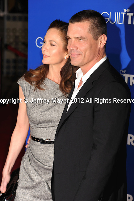 WESTWOOD, CA - DECEMBER 11: Diane Lane and Josh Brolin arrive at the 'The Guilt Trip' - Los Angeles Premiere at Regency Village Theatre on December 11, 2012 in Westwood, California.