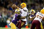 The University of Washington football team plays Arizona State University in Seattle on November 19, 2016(Photography by Scott Eklund/Red Box Pictures)