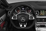 Car pictures of steering wheel view of a 2017 Mercedes Benz SLC AMG 2 Door Convertible Steering Wheel
