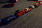 Toy cars stuck in traffic
