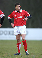 Simon Mason in action during the charity match between the Ulster 1999 XV and a Wooden Spoon Select XV at Shaw's Bridge Belfast.  Mandatory Credit - Photo : John Dickson