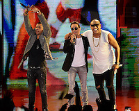 MIAMI FL - OCTOBER 29: Gente de Zona and Marc Anthony perform during the Gets Loud for Hillary Clinton at GOTV Concert at The Bayfront Park Amphitheatre on October 29, 2016 in Miami, Florida. Credit: mpi04/MediaPunch