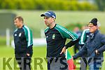 Listry manager Marc O'Sé  against Firies in their JFC clash in Kilcummin on Sunday