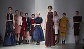 14 February 2014, London, England, UK. Models walk the runway at the Bora Aksu catwalk show during London Fashion Week AW14 at Somerset House, London.