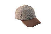 Studio Packshot of the Glencairn Harris Tweed Baseball Cap.