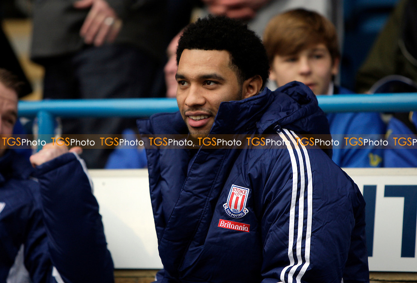 Jermaine Pennant of Stoke City FC on the bench - Gillingham vs Stoke City - FA Cup 3rd Round Football at Priestfield Stadium, Gillingham, Kent - 07/01/12 - MANDATORY CREDIT: Helen Watson/TGSPHOTO - Self billing applies where appropriate - 0845 094 6026 - contact@tgsphoto.co.uk - NO UNPAID USE.