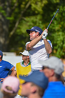 Keegan Bradley (USA) watches his tee shot on 16 during 1st round of the 100th PGA Championship at Bellerive Country Cllub, St. Louis, Missouri. 8/9/2018.<br /> Picture: Golffile | Ken Murray<br /> <br /> All photo usage must carry mandatory copyright credit (© Golffile | Ken Murray)