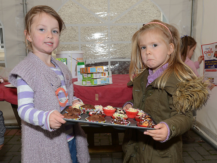 Orlaith Ivers and Sadie Ruddle pictured at the Cheerios Breakfast Morning held at Bright Eyes Playgroup in Laytown. Photo:Colin Bell/pressphotos.ie
