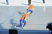 SCHAATSEN: BOEDAPEST: Essent ISU European Championships, 07-01-2012, 500m Men, Koen Verweij NED, Sven Kramer NED, ©foto Martin de Jong
