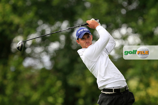 Conor O'Rourke (Naas) on the 8th tee during round 1 of The Mullingar Scratch Cup in Mullingar Golf Club on Sunday 3rd August 2014.<br /> Picture:  Thos Caffrey / www.golffile.ie