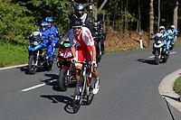 Picture by Alex Whitehead/SWpix.com - 28/09/2018 - Cycling 2018 Road Cycling World Championships Innsbruck-Tiriol, Austria - Mens U23 Road Race - Szymon Tracz of Poland.