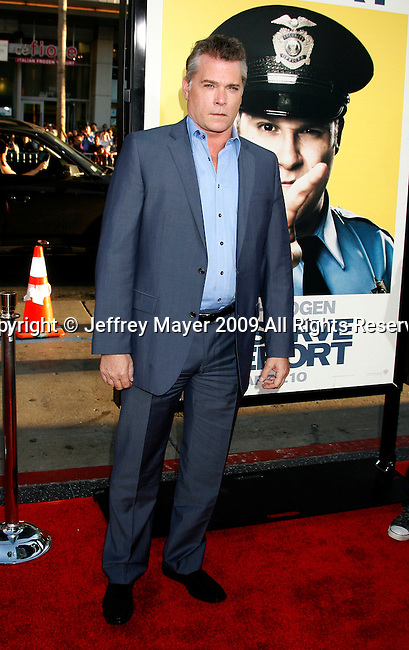 """HOLLYWOOD, CA. - April 06: Ray Liotta  arrives at the Los Angeles premiere of """"Observe and Report"""" at Grauman's Chinese Theater on April 6, 2009 in Hollywood, California."""
