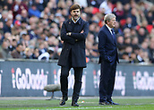 5th November 2017, Wembley Stadium, London England; EPL Premier League football, Tottenham Hotspur versus Crystal Palace; Tottenham Hotspur Manager Mauricio Pochettino shouting to his players from the touchline