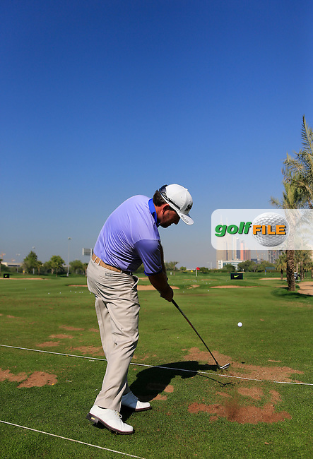 Graeme McDOWELL (NIR) on the range during Tuesday's Practice Day of the 2015 Omega Dubai Desert Classic held at the Emirates Golf Club, Dubai, UAE.: Picture Eoin Clarke, www.golffile.ie: 1/27/2015