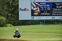Hideki Matsuyama (JPN) lines up his putt on 8 during round 3 of the WGC FedEx St. Jude Invitational, TPC Southwind, Memphis, Tennessee, USA. 7/27/2019.<br /> Picture Ken Murray / Golffile.ie<br /> <br /> All photo usage must carry mandatory copyright credit (© Golffile | Ken Murray)