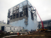 The stricken Fukushima Daiichi Nuclear Power Plant in Fukushima Prefecture, Japan. The plant was severely damaged after the March 11th earthquake and tsunami and continues to leak radiation.  .22 Mar 2011....