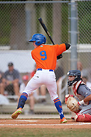 Trippe Moore (9) during the WWBA World Championship at the Roger Dean Complex on October 12, 2019 in Jupiter, Florida.  Trippe Moore attends Mary Persons High School in Forsyth, GA and is committed to Georgia.  (Mike Janes/Four Seam Images)