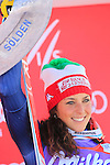 Italy's Federica Brignone ended first of the Ladies Giant Slalom of the FIS Alpine Ski World Cup  on 24/10/2015 in Soelden, Austria. USA's Mikaela Shiffrin is second and Tina Weirather (LIE) is third. French Tessa Worley is 5th.