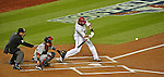 12 October 2012: Washington Nationals outfielder Jayson Werth leads off the bottom of the first inning with a double during Postseason Playoff Game 5 of the National League Divisional Series against the St. Louis Cardinals at Nationals Park in Washington, DC. The Cardinals rallied with four runs in the 9th inning to defeat the Nationals 9-7; thus winning the NLDS and moving on to the NL Championship Series. Mandatory Credit: Ed Wolfstein Photo
