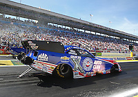 Apr 12, 2015; Las Vegas, NV, USA; NHRA funny car driver Robert Hight during the Summitracing.com Nationals at The Strip at Las Vegas Motor Speedway. Mandatory Credit: Mark J. Rebilas-