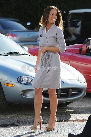 MIAMI BEACH, FL - MARCH 16: (L-R)  Rachael Taylor, Minka Kelly and Annie Ilonzeh shooting on the film set of Charlies Angels on March 16, 2011 in Miami Beach, Florida