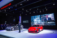 NEW YORK, NY - APRIL 12: Porsche Cars North America Chief Executive Officer Klaus Zellmer introduces the 2018 Porsche 911 GT3 at the New York International Auto Show, at the Jacob K. Javits Convention Center on April 12, 2017 in Manhattan, New York. Photo by VIEWpress/Eduardo MunozAlvarez