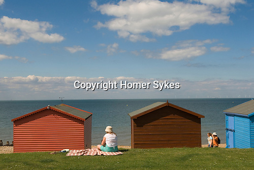 Tankerton beach huts near Whitstable  Kent England.