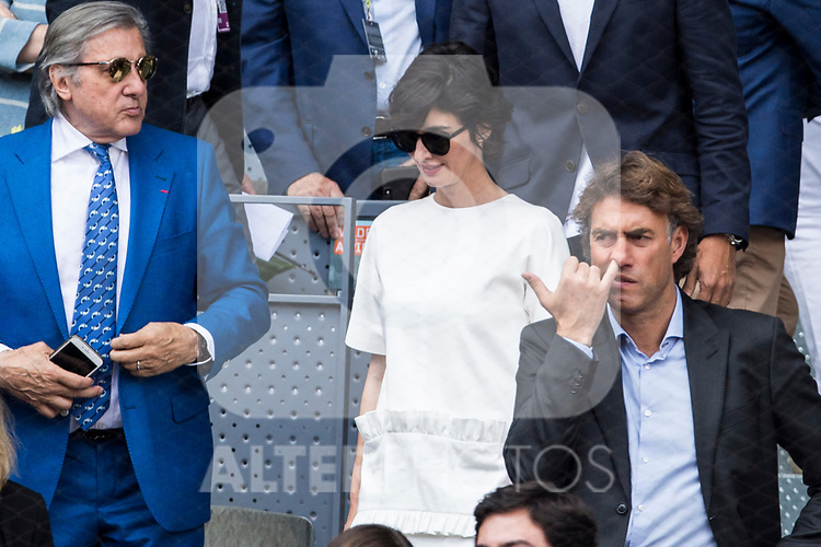 Paz Vega during the ATP final of Mutua Madrid Open Tennis 2017 at Caja Magica in Madrid, May 14, 2017. Spain.