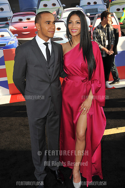 "Nicole Scherzinger & Lewis Hamilton at the premiere of ""Cars 2"" at the El Capitan Theatre, Hollywood..June 18, 2011  Los Angeles, CA.Picture: Paul Smith / Featureflash"