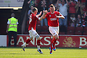Andy Butler of Walsall (r) celebrates after scoring their first goal. - Walsall v Stevenage - npower League 1 - Banks's Stadium, Walsall - 24th March, 2012  .© Kevin Coleman 2012